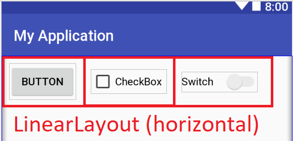 Android: Linear Layout (horizontal)