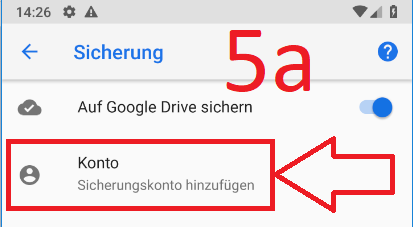 Android 9 (Pie): Android-Backup bei Google-Drive anlegen (Schritt 5a)